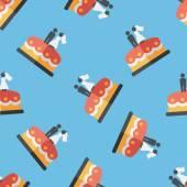 Wedding cake flat icon,eps10 seamless pattern background — Stock Vector