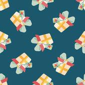 Icône plate de Noël cadeau eps10 sans soudure de fond — Vecteur