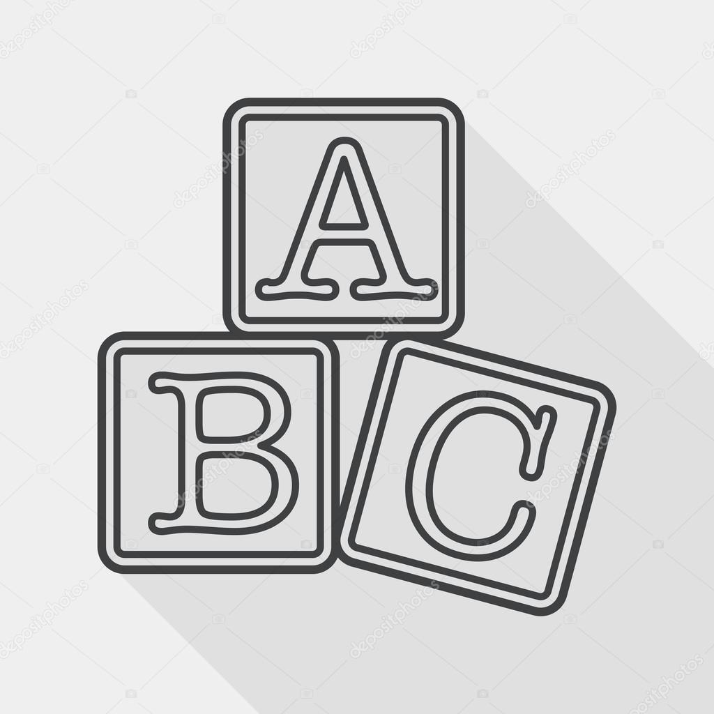 abc blocks black and white wwwimgkidcom the image
