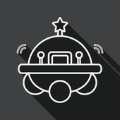 Space flat icon with long shadow, line icon — Stock vektor