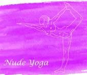 Nude yoga — Stock Vector