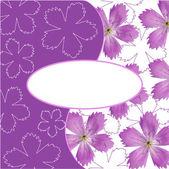 Tarjeta de flor — Vector de stock