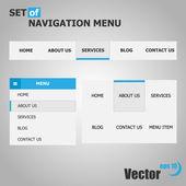 Set Of Navigation Menus — Stock Vector