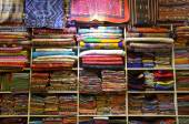 Traditional textile for sale in Thailand — Stock Photo