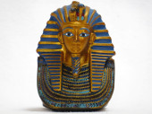 Statue of the mask of King Tut — Stock Photo