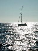 Silueta lodi — Stock fotografie