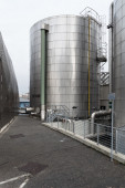 One silos in stainless steel — Stock Photo