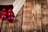 Plums on wooden background — Stock Photo