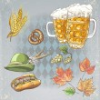 A set of objects to the Oktoberfest — Stock Vector #53015425