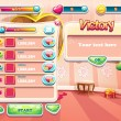An example of one of the screens of the computer game with a loading background bedroom princess, user interface and various element. Set 3 — Stock Vector #56070247