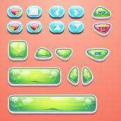 Set glamorous buttons with an OK button, buttons yes and no to computer games design and web design — Stockvektor