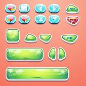 Set glamorous buttons with an OK button, buttons yes and no to computer games design and web design — Vector de stock