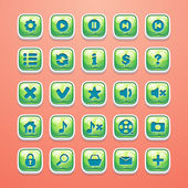 Set of buttons for glamorous game interface and Web design — Vector de stock