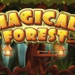 Set banner and icon for the computer game magic forest — Stock Vector #63391483