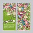 Set of vertical banners on the theme spring — Stock Vector #67375919