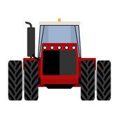 Big red tractor — Vector de stock