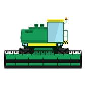 Modern green harvester — Stock Vector