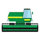 Obsolete green harvester — Stock Vector