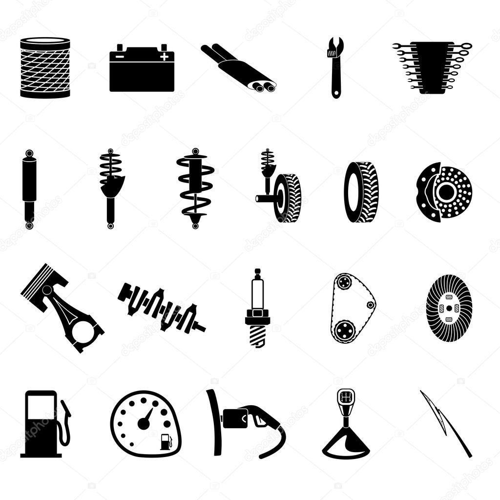 Part Of Art : Icône de pièces auto — image vectorielle ikuvshinov