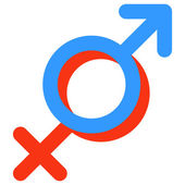 Gender symbol of Venus and Mars. — Stock Vector