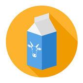 Krabice od mléka — Stock vektor