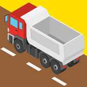 The truck in isometric projection — Stock Vector