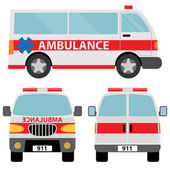 Ambulance car — Stock Vector