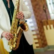 Man playing the saxophone — Stock Photo #58298727