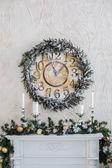 Рождественские часы — Стоковое фото