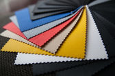 Colored leather — Stock Photo