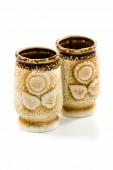 Due tazze di argilla — Foto Stock