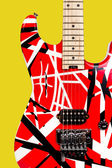 Beautiful closeup red and white electric guitar — Stock Photo