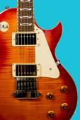 Beautiful closeup of electric guitar — Stock Photo