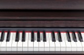 Closeup piano marrom — Fotografia Stock