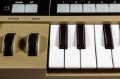 Keys piano synthesizer — Stock Photo