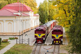 Two old locomotive — Stock Photo