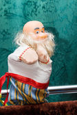 Puppets old man — Stock Photo