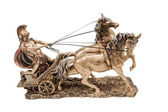 Greek warrior on chariot — Stock Photo