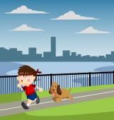 Jogging — Stock Vector