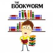 The Bookworm — Stock Vector