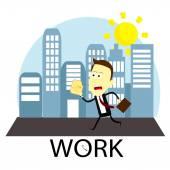 Working — Stock Vector