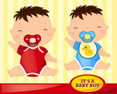 Baby Boy Sit — Stock Vector