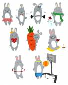 Bunny Vector Set — Stock Vector