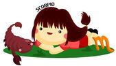 Scorpio Horoscope — Stok Vektör
