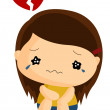 Heartbroken — Stock Vector #58031931