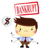 Bankrupt — Stock Vector