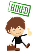 Hired for a Job — Stock Vector