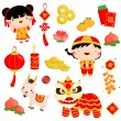 Chinese New Year Vector Set — Stock Vector #60502357