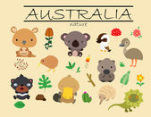 Australia Nature — Stock Vector