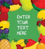 Fruity Card — Stock Vector
